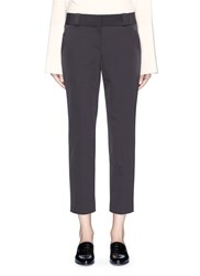 The Row 'Blake' Cropped Stretch Suiting Pants Grey