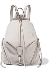 Rebecca Minkoff Woman Julian Medium Pebbled Leather Backpack Stone