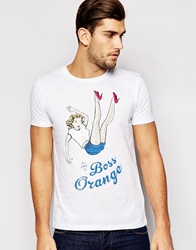 Boss Orange T Shirt With Pin Up Girl Print White