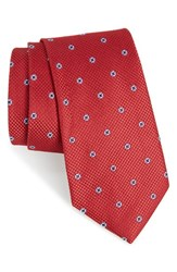 Nordstrom Men's Men's Shop Dazzle Neat Silk Tie Red