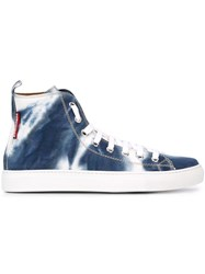 Dsquared2 Tie Dye Hi Top Sneakers White