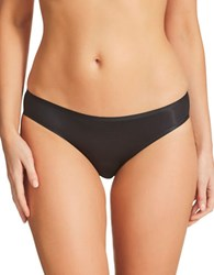 Fine Lines Solid Seamless Panty Black