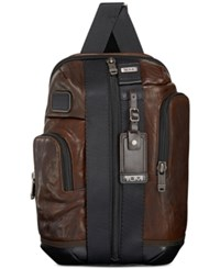 Tumi Men's Leather Saratoga Sling Brown