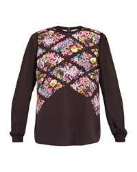 Ted Baker Hayles Lost Gardens Woven Top Black
