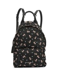 Givenchy Nano Floral Print Nylon Backpack Black Multi