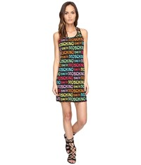 Moschino Printed Dress Cover Up Black