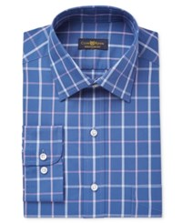 Club Room Men's Classic Regular Fit Wrinkle Resistant Plaid Dress Shirt Only At Macy's Purple