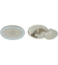 Mulberry Oval Thin Line Cufflinks Pale Blue
