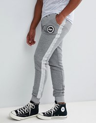Hype Skinny Joggers In Grey With Side Stripe