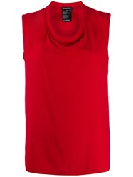 Ann Demeulemeester Round Neck Tank Top Red