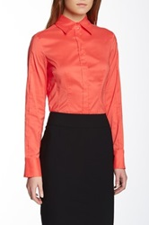Hugo Boss Bashina Spread Collar Blouse Red