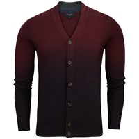Ted Baker Conveks Sprayed Ombre Cardigan Dark Red