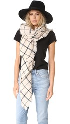 Spun Scarves By Subtle Luxury Window Pane Scarf Blush