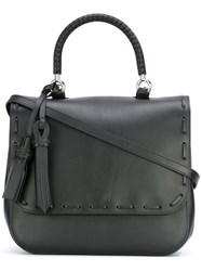 Max Mara Flap Shoulder Bag Women Calf Leather One Size Black