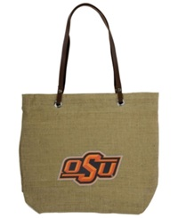 Little Earth Oklahoma State Cowboys Burlap Tote Brown
