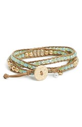 Women's Lonna And Lilly Long Beaded Wrap Bracelet Green