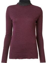 Majestic Filatures Roll Neck Jumper Red