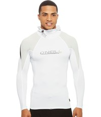 O'neill Skins O'zone Long Sleeve W Hood White Lunar Black Men's Swimwear