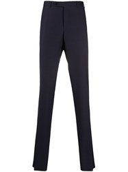 Canali Slim Fit Tailored Trousers Blue