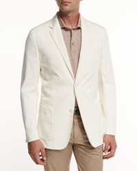 Ermenegildo Zegna Soft Stretch Cotton Sport Jacket Light Beige Md Bge Sld