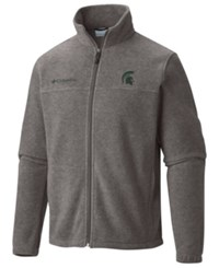 Columbia Men's Michigan State Spartans Flanker Full Zip Jacket Charcoal