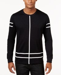 Inc International Concepts Men's Line Graphic Long Sleeve T Shirt Only At Macy's Deep Black