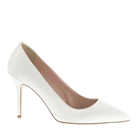 J.Crew Elsie Satin Pumps Ivory