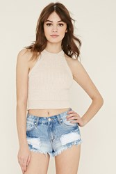 Forever 21 Distressed Denim Cutoffs