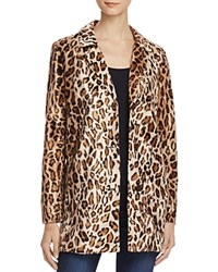 Velvet By Graham And Spencer Cheetah Print Faux Fur Coat Saharan