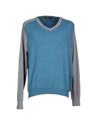 Zegna Sport Sweaters Turquoise