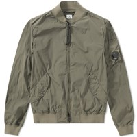 C.P. Company Nycra Stretch Arm Lens Bomber Jacket Green