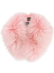 Mr And Mrs Italy Raccoon Fur Collar Pink And Purple