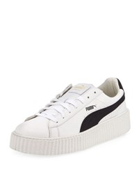 Puma X Fenty By Rihanna Men's Cracked Leather Creeper Sneaker White