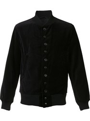 Engineered Garments Velvet Bomber Jacket Black