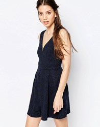 Hazel Lace Skater Dress Blue