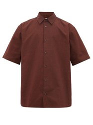 Acne Studios Oversized Canvas Shirt Burgundy