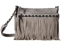 Jessica Simpson Tyra Fringe Crossbody Metallic Grey Cross Body Handbags