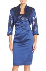 Women's Adrianna Papell Sequin Shantung Sheath And Bolero