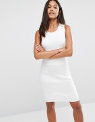 Supertrash Douk Ribbed Bodycon Dress White