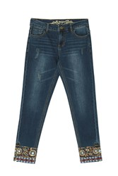 Desigual Jeans Exotic Papping A Navy