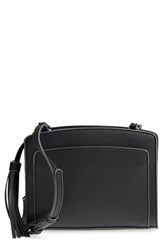 Sole Society Smooth Faux Leather Crossbody Bag Black