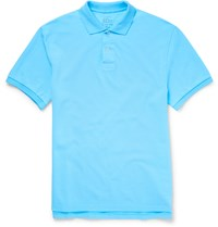 J.Crew Slim Fit Cotton Pique Polo Shirt Blue