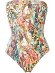Lygia And Nanny Strapless Swimsuit Multicolour
