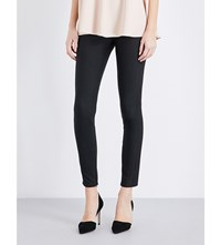Stella Mccartney Zipped Cuffs Cotton Blend Leggings Blk