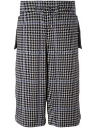 Oamc Houndstooth Shorts Men Cotton Polyester Cupro M Grey