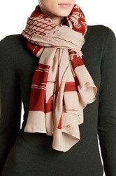 Liebeskind Wave Print Scarf Brown