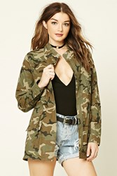 Forever 21 Camo Print Utility Jacket