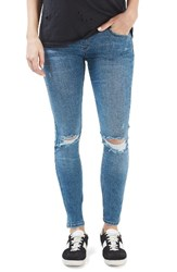 Topshop Women's Jamie Embroidered Maternity Jeans