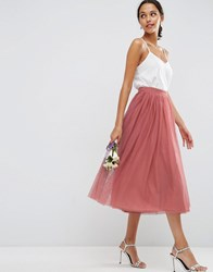 Asos Wedding Tulle Prom Skirt With Multi Layers Dark Pink