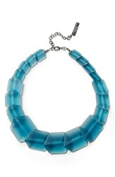 Women's Lafayette 148 New York 'Clear Link Bead' Gradient Cube Necklace Oceana